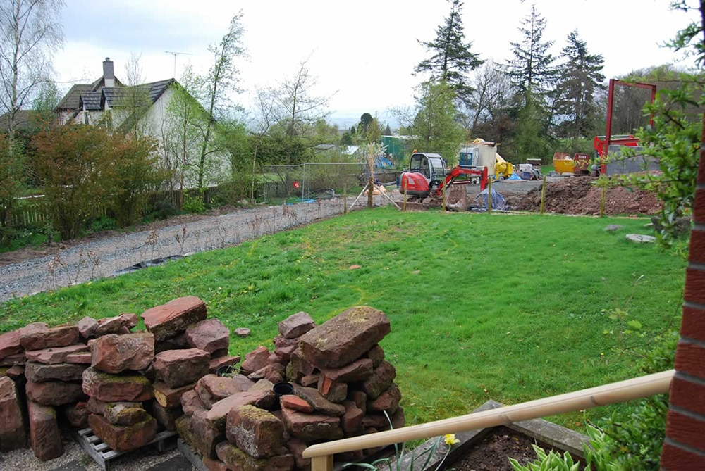 Before landscaping - Landscaping in Falkirk